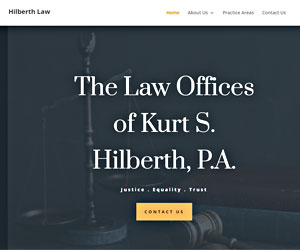 Hilberth Law Firm web design